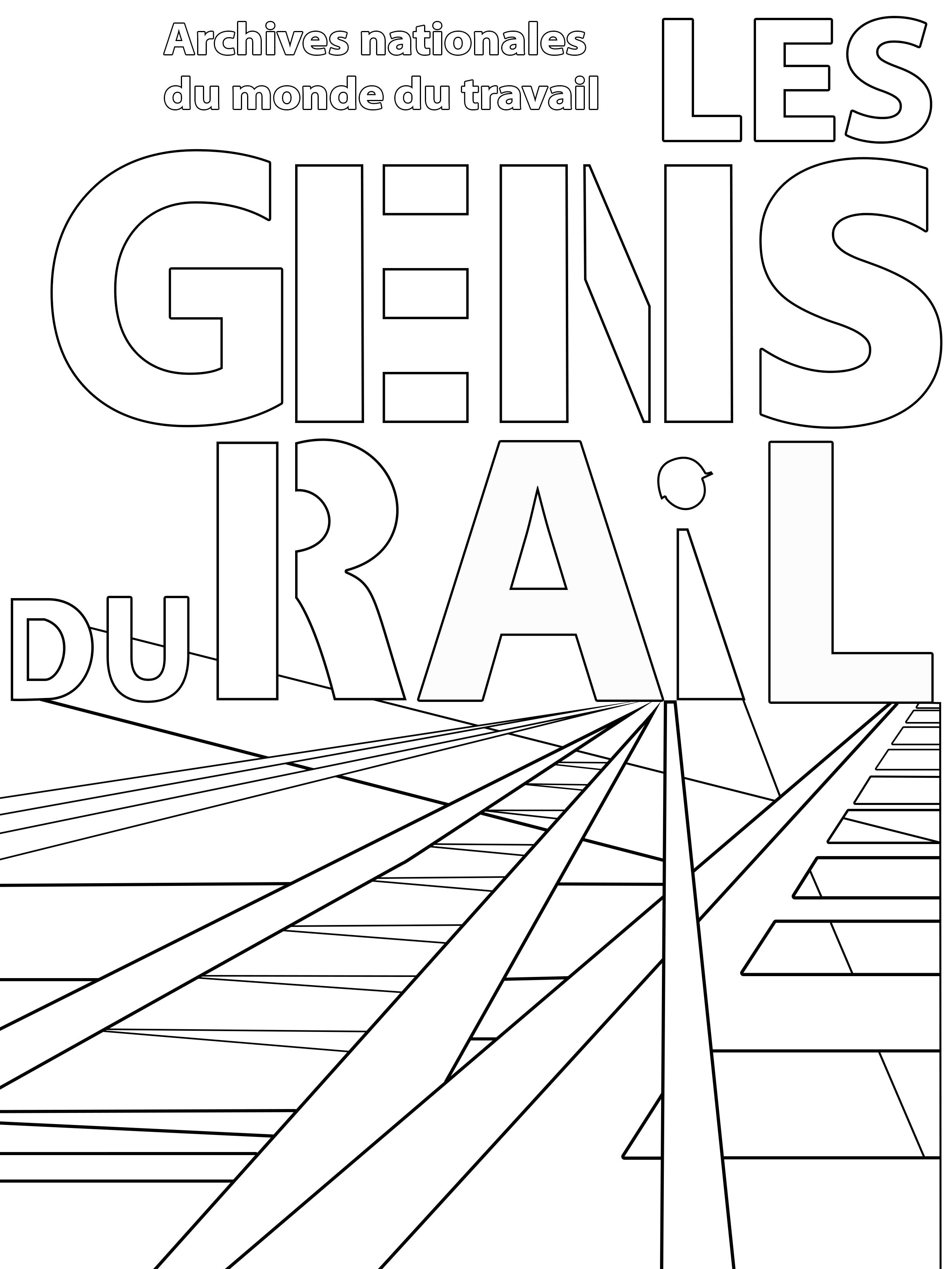 Coloriage des ANMT - Les gens du rail