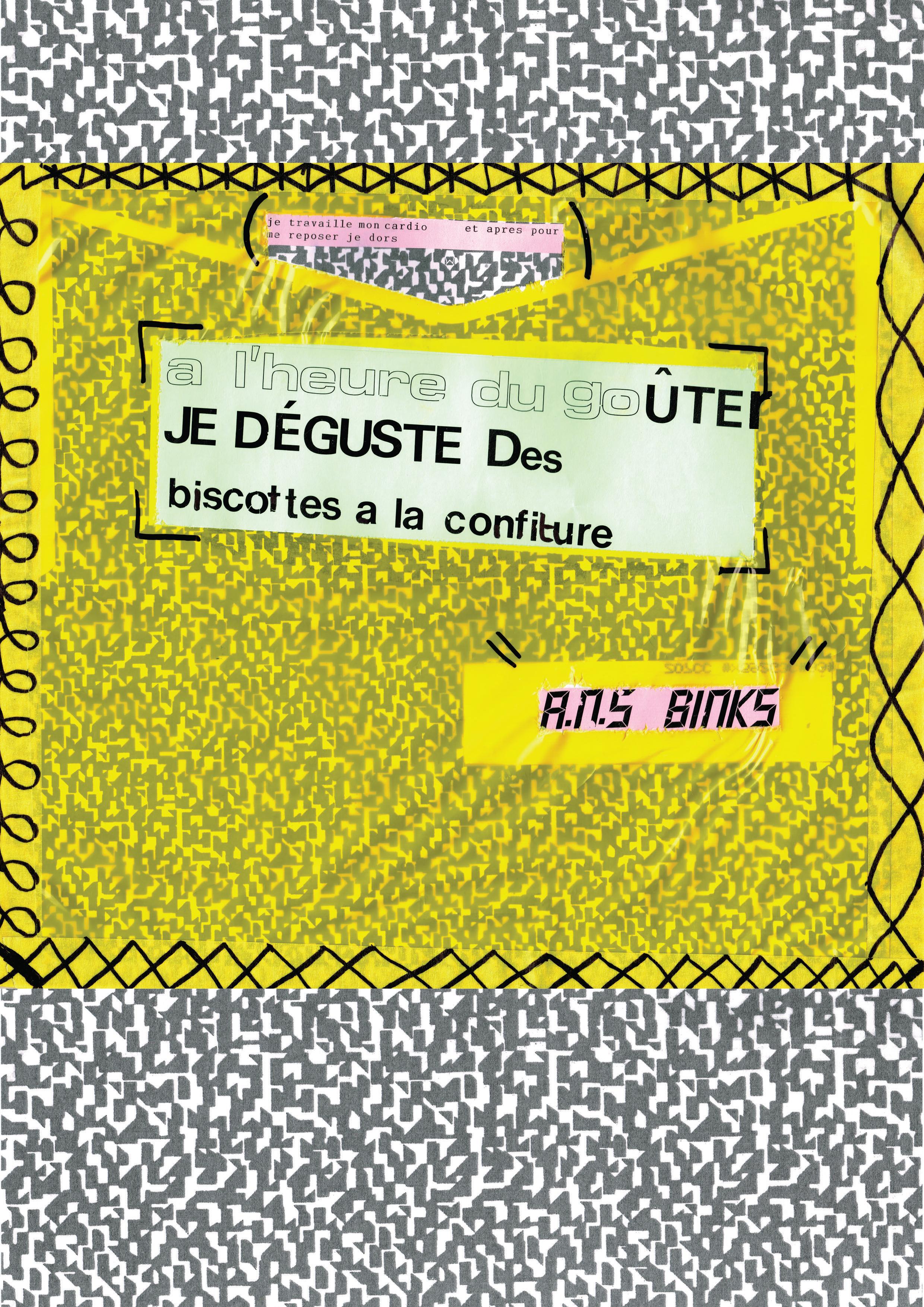 Affiche réalisée par Anis AYAD (collège Jean-Baspiste Lebas, Roubaix) dans le cadre de l'atelier de l'artiste Joséphine Kaeppelin, janvier 2020.