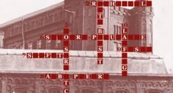 Détail d'une grille de mots fléchés