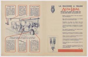 Présentation de la machine à traire Alfa-Laval : brochure (sans date