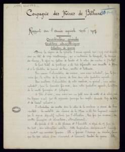 Productivité des fermes de Béthune (Pas-de-Calais) : rapport de la Compagnie des mines de Béthune, 1916-1917.