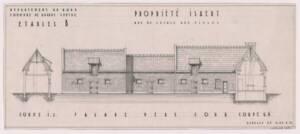 Plan d'une ferme à Grande-Synthe (Nord), années 1950.