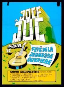Affiche pour fête de la jeunesse ouvrière à Croix (Nord), sans date.