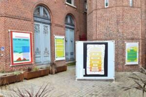 Photographie de l'exposition Plus tard je parlerai 5 langues, 2021.