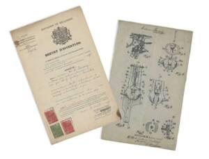 Plan d'une faucheuse conçue par M. Savary : brevet d'invention (1928).