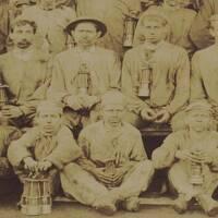 Photos de groupe de mineurs (1889).