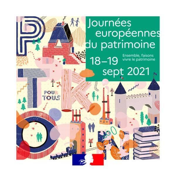 Visuel officiel des Journées européennes du patrimoine 2021.