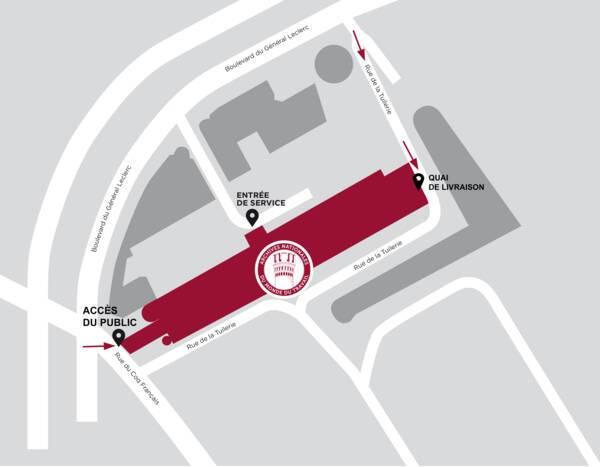 Plan d'accès aux ANMT
